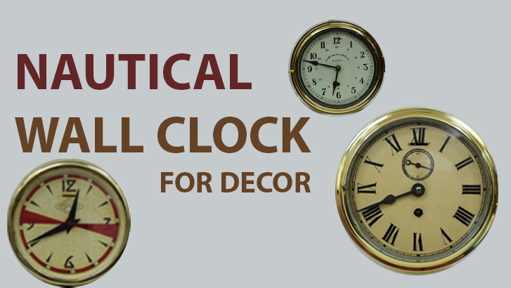 Nautical wall clock decor